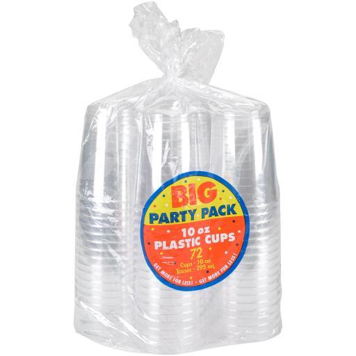 Big Party Pack Plastic Cups 10oz 72/Pkg-Clear VIT4VPAR8WK6PHSE