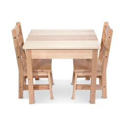Melissa doug wooden table & chairs natural