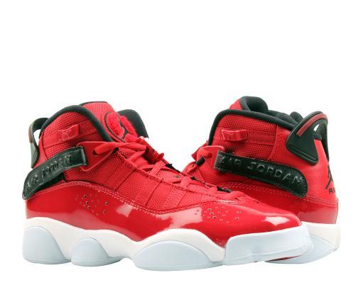 low priced 38c24 441eb Nike Air Jordan 6 Rings GS Red/Black-White Big Kids Basketball Shoes  323419-601
