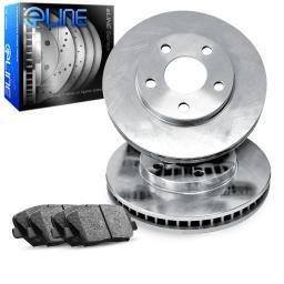 2006-2011 Honda Civic Front eLine Plain Brake Disc Rotors & Ceramic Brake Pads