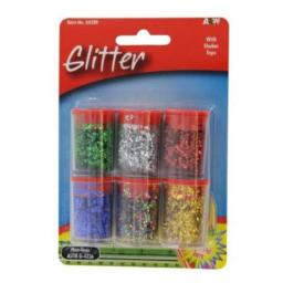A & W Products 24326 A & W Products 24326 .25 Oz Glitter Assorted Colors 6 Count - Pack of 6