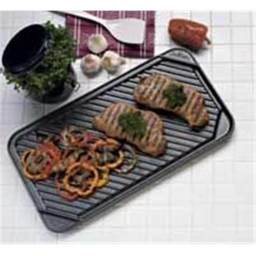 CHEFS DESIGN Non-Stick Double Burner Reversible Grill Griddle - 3560C