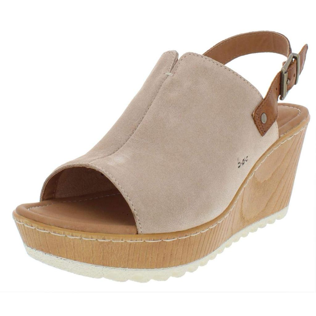 f5fdba3638d8 B.O.C Born Concepts B.O.C Womens Noelle Suede Open Toe Wedge Sandals ...