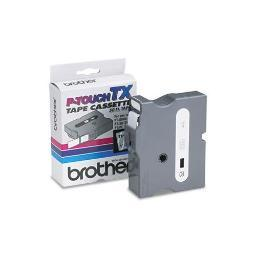 Brother international corporat tx1551 brother laminated tape - white on clear - roll (0.95 in x 50 ft) - brother label