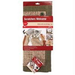 Petlinks Welcome Catnip Scratch mat w/Snap Toy-.375''X14''X18''-Assorted-Brown or Gray49433