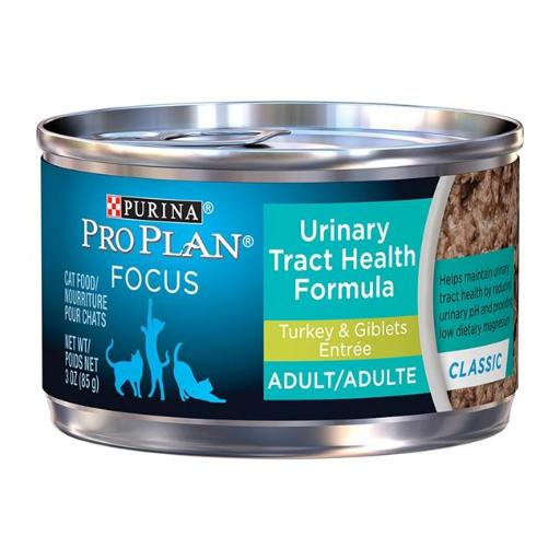 Purina Pro Plan 381375 5.5 oz. Pro Plan Focus Urinary Tract Health Formula Turkey & Giblets for Cat, Pack of 24