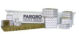 Grodan Pargro Quick Drain Stonewool Grodan Pargro QD Jumbo Block 6 in x 6 in x 4 in w/ Hole