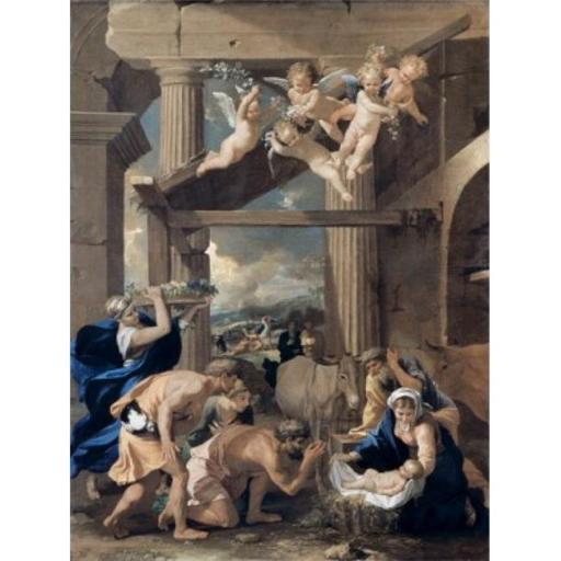 Posterazzi SAL900100369 The Adoration of the Shepherds Nicolas Poussin 1594-1665 French Poster Print - 18 x 24 in.