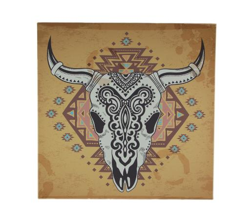 Canvas Santa Fe >> De Leon Collections Southwest Steer Skull Santa Fe Style Canvas