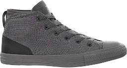 Converse Men's Chuck Taylor All Star Syde Street Mid Sneaker (5 M US, Charcoal Grey/Black)