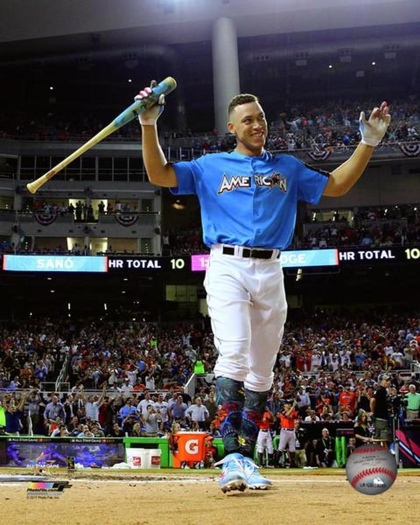 Aaron Judge wins the 2017 MLB All-Star Game Home Run Derby Photo Print