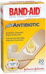 Band-aid Plus Antibiotic Bandages Assorted Sizes - 20 Ct