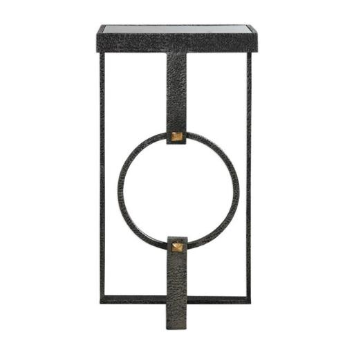 Uttermost 24766 Hagen Burnished Steel Accent Table