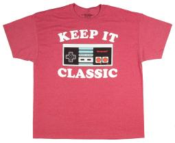 NES Nintendo Entertainment System Controller Keep It Classic T-Shirt Big And Tall