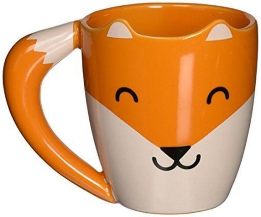Fox Mug Orange Ceramic Coffee Tea Tail Handle Foxes Shaped Mug Animal Lover