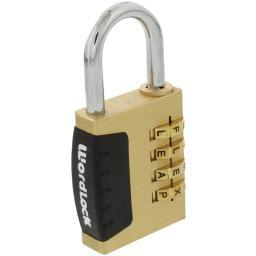 Wordlock(r) pl-056-sl 4-dial combination sports lock
