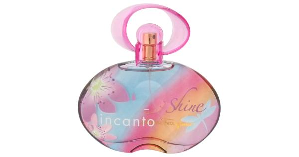 Salvatore Ferragamo Incanto Shine By Salvatore Ferragamo For Women - 3.4 Oz Edt Spray (Unboxed)  3.4 Oz Launched by the design house of Salvatore Ferragamo in the year 2007. This floral fruity fragrance has a blend of pineapple, bergamot, passion fruit, pink peony, freesia, peach, cedar, amber, and musk notes.