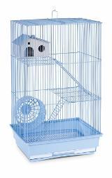 Three Story Hamster & Gerbil Cage - Lite Blue