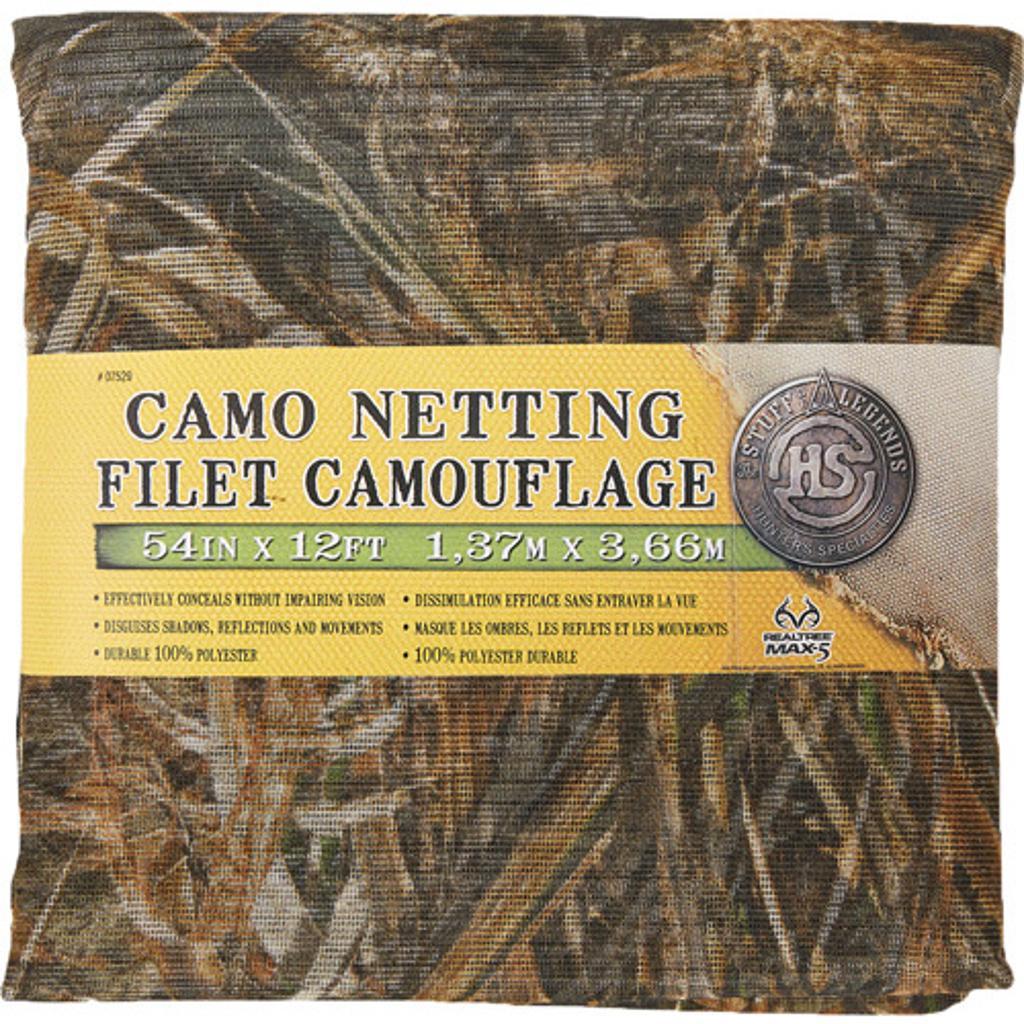Hunter specialties 07529 h.s. camo mesh netting 54x12' advantage max-5