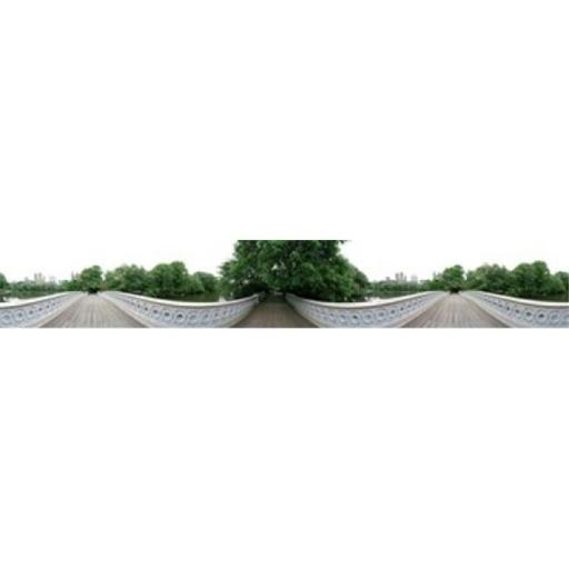 Panoramic Images PPI123933L 360 degree view of a footbridge in an urban park Bow Bridge Central Park Manhattan New York City New York State USA