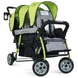 Foundations 4130299 The Trio Sport Triple Tandem Stroller, Lime