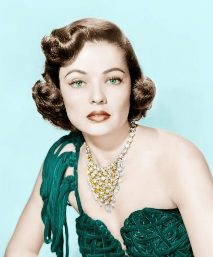 Gene Tierney Late 1940S- Early 1950S Photo Print