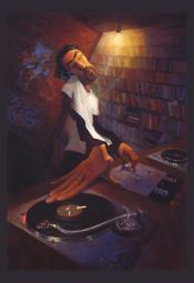 The DJ Poster Print by Justin Bua (24 x 35)