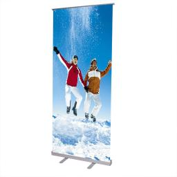 "Economy 32x79""  Adjustable Height Retractable Roll up Banner Stand Trade Show Telescopic Sign Holder"