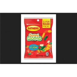 Sathers 01301 4.25 oz Gummi Worms