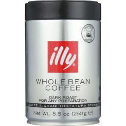 Illy Caffe Coffee Coffee - Whole Bean - Dark Roast - 8.8 oz - case of 6