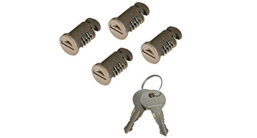 Rhino-Rack - Usa Rlk-Lock-4 Roof Rack Accessory - Lock Kit For Dk Legs