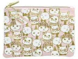 Ldj85883 lady jayne glam bag fancy cats gold foil