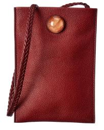 The Row Medicine Small Leather Pouch With Strap