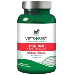 Vet'S Best 3165810128 Green Vet'S Best Dog Healthy Coat Shed And Itch Supplement 50 Tablet Green 2.5 X 2.5 X 4.94