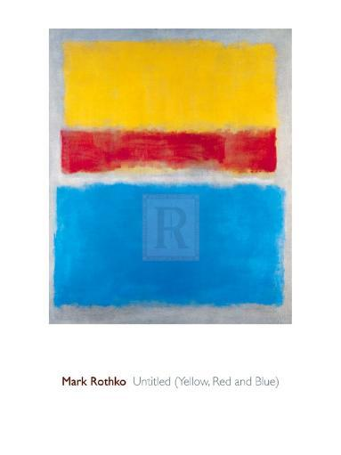 Untitled (Yellow, Red and Blue) Poster Print by Mark Rothko (24 x 32) OVV6WDYMLMFHZOE7