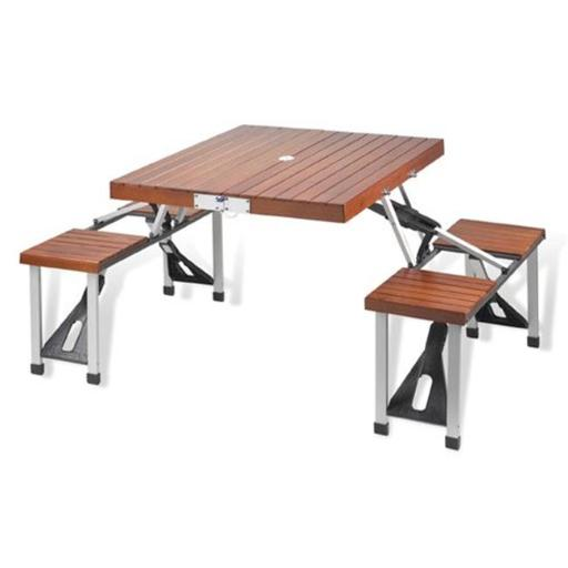 Picnic at Ascot 246 Picnic Table Set Wood