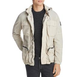 Belstaff Mens Bantham Mock Neck Long Sleeves Utility Jacket