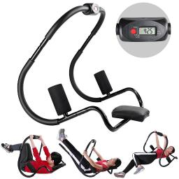 Abdominal Sit Up Trainer Crunch Exercise Roller Gym Workout Machine w/ Counter