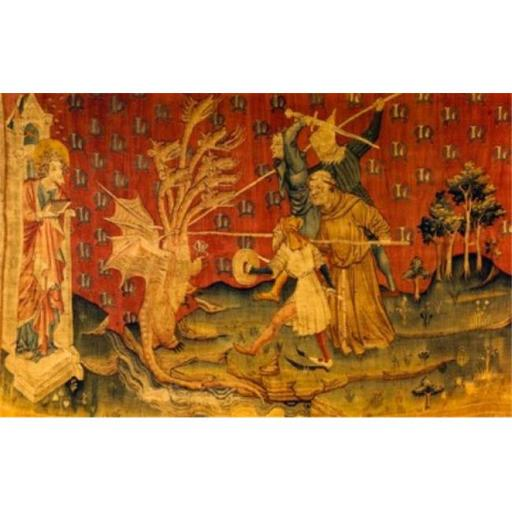Posterazzi SAL900100609 Apocalypse - Seven Headed Dragon Tapestry & Textiles Poster Print - 18 x 24 in.