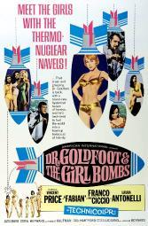 Dr. Goldfoot And The Girl Bombs Man On Horse In Rocket On Left: Fabian; Man In Top Rocket On Right: Vincent Price; Girl In Bottom Rocket On Right: Laura Antonelli; 1-Sheet Poster Art 1966. Movie Poster Masterprint EVCMCDDOGOEC010H