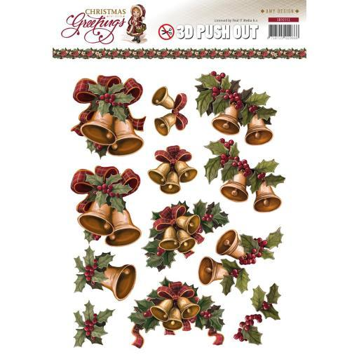 Find It Trading Amy Design Punchout Sheet Christmas Bells