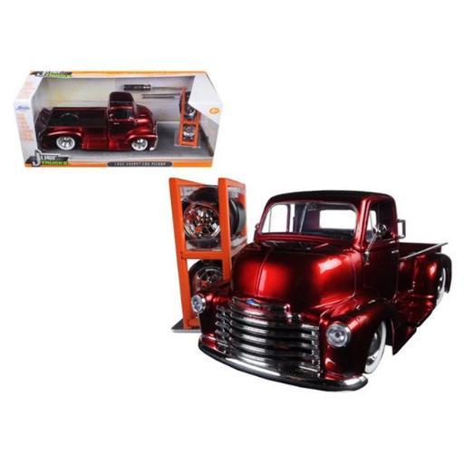 Jada 97225 1952 Chevrolet COE Pickup Truck Red Just Trucks with Extra Wheels 1-24 Diecast Model