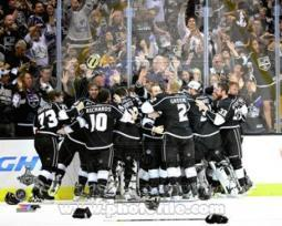 The Los Angeles Kings Celebrate Winning Game 5 of the 2014 Stanley Cup Finals Action Sports Photo PFSAAQZ05201