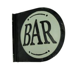 Black and White Metal Vintage Double Sided Bar Sign