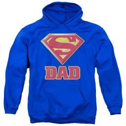 Superman Super Dad Adult Pullover Hoodie Navyall