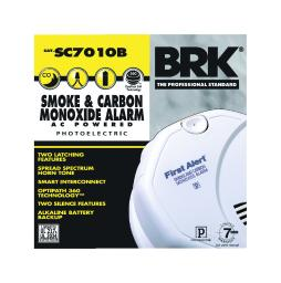BRK Hard-Wired w/Battery Back-up Electrochemical/Photoelectric Smoke and Carbon Monoxide Detector - Case Of: 1; Each Pack Qty: 1;