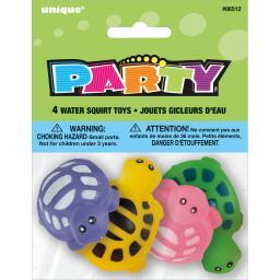Party Favors 4/Pkg-Turtle Water Squirt Toy 86512