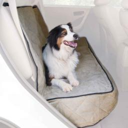 K&H Pet Products 7863 Tan K&H Pet Products Quilted Car Seat Cover Extra Long Tan 57 X 58 X 0.25