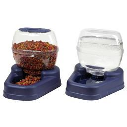 Bergan 11780 Blue Bergan Petite Gourmet Combo Pack Pet Feeder And Waterer Blue 13 X 11.5 X 11.25 Each
