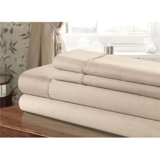Chic Home CST45-US 100 Percent Cotton Sheet Set, Taupe - Twin